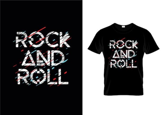 Rock & roll t-shirt ontwerpsjabloon