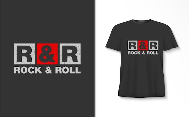 Rock & roll typografie tshirt
