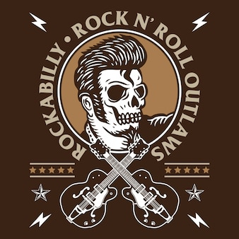 Rockabilly-schedel