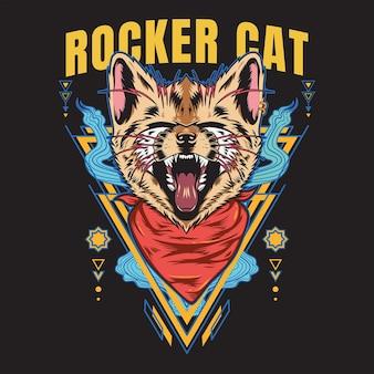 Rocker cat scream