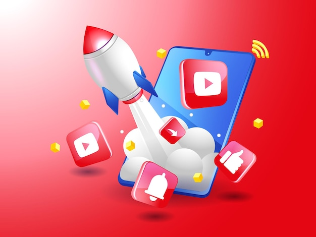 Rocket boost digitale marketing op youtube met smartphone