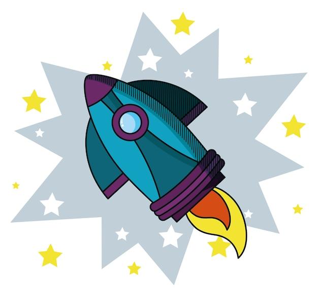 Rocket doodle cartoon