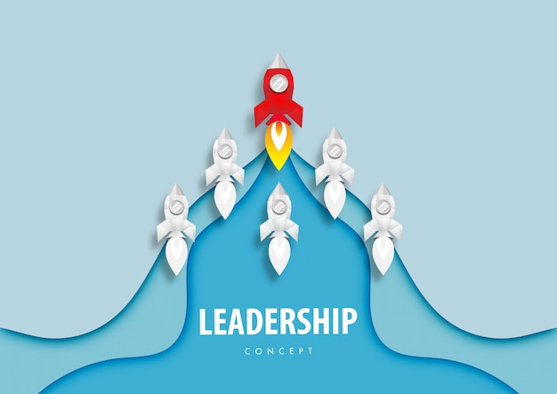 Rocket leiderschap concept