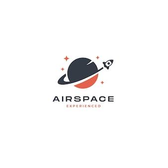 Rocket planet logo inspiratie