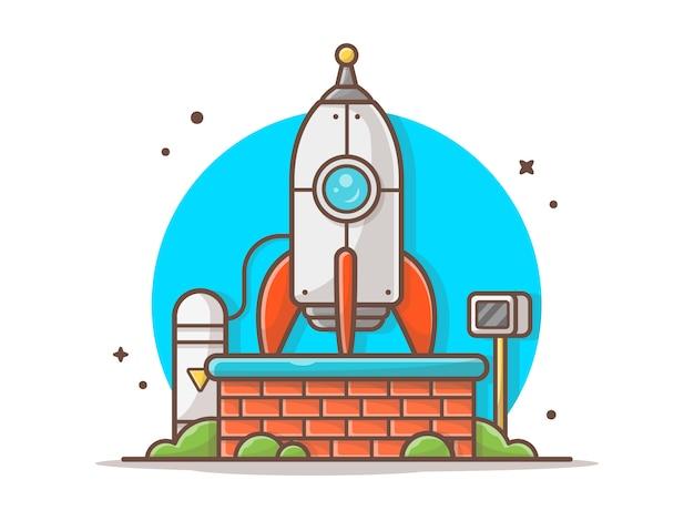 Rocket testing icon illustratie