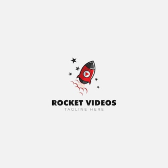 Rocket video en media logo