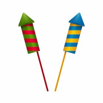 Rocket vuurwerk pictogrammen