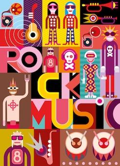 Rockmuziek - vectorillustratie