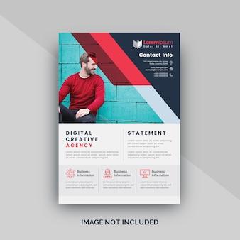 Rode aantrekkelijke flyer voor hoofdkantoor