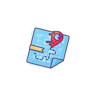 Rode aanwijzer op de kaart