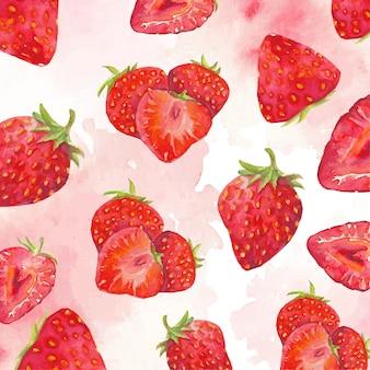 Rode aardbeienachtergrond