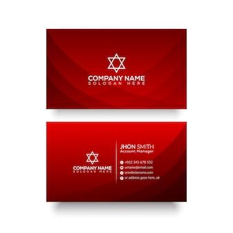 Rode abstract visitekaartje