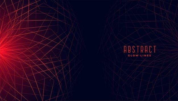 Rode abstracte geometrische lijnen gloeiende achtergrond