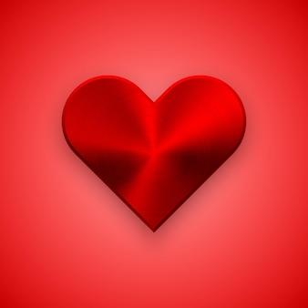 Rode abstracte hart teken badge