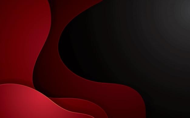 Rode abstracte papercut geometrische achtergrond. decoratie papercut met golvende lagen.