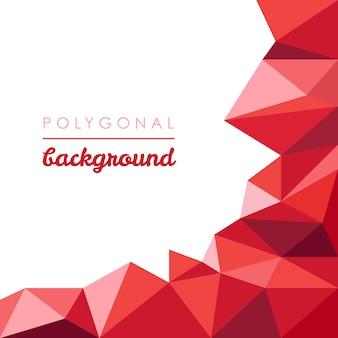 Rode abstracte veelhoekige achtergrond