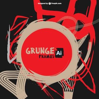 Rode abstracte verf grunge vector