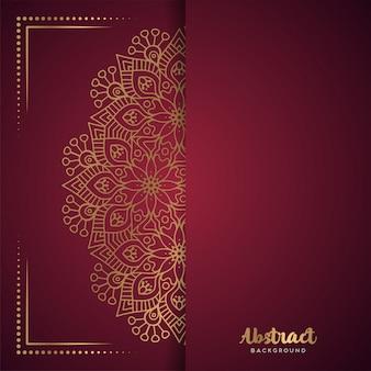 Rode achtergrond met bloemmandala