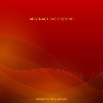 Rode achtergrond met golvende vormen