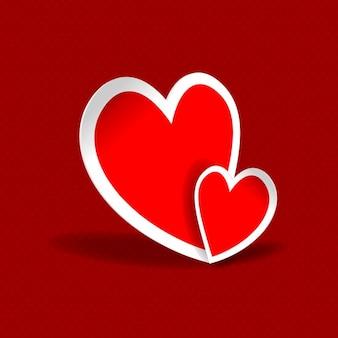 Rode achtergrond met hartjes