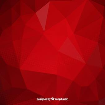 Rode achtergrond met veelhoekige vormen