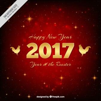 Rode achtergrond voor chinees nieuwjaar met glanzende sterren