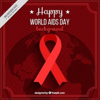 Rode achtergrond voor de dag van aids