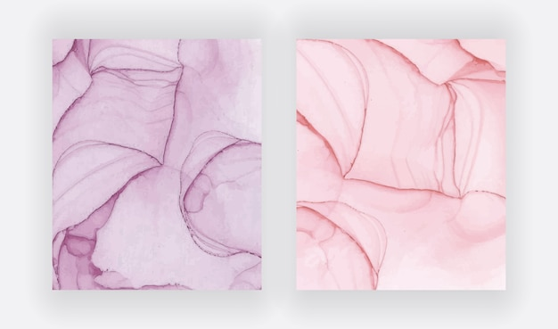 Rode alcohol inkt textuur. abstracte handgeschilderde aquarel set