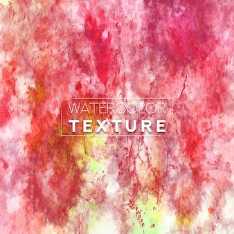 Rode aquarel textuur met splash