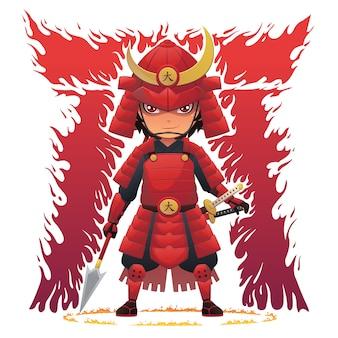 Rode armor samurai