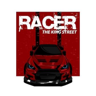 Rode auto de koningsstraat