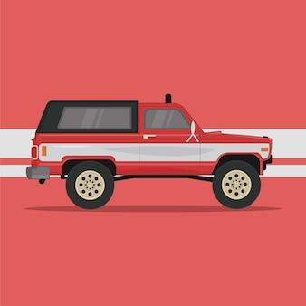 Rode auto vectorillustratie