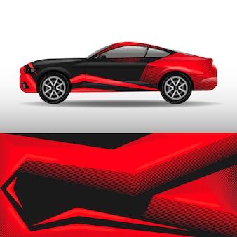 Rode auto wrap ontwerp