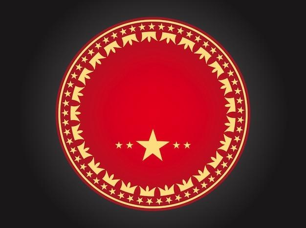 Rode badge met kronen