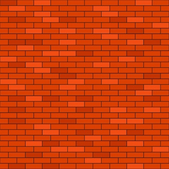 Rode bakstenen muur naadloze achtergrond