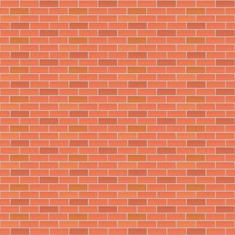 Rode bakstenen muur vector achtergrond