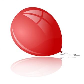 Rode ballon met reflectie