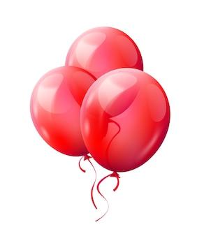 Rode ballonnen geïsoleerd