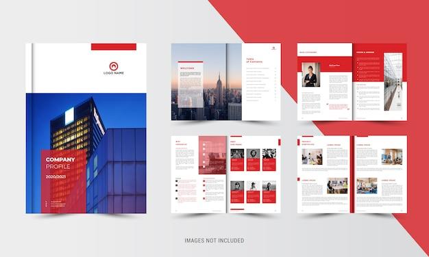 Rode bedrijfsbrochure sjabloon