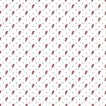 Rode bliksem naadloze patroon oude school stijl