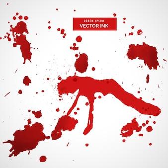 Rode bloed vlek splatter set vector