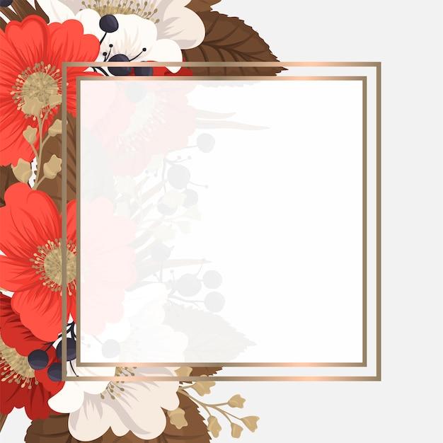 Rode bloem rode en witte bloemen als achtergrond