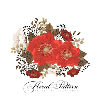 Rode bloemillustratie