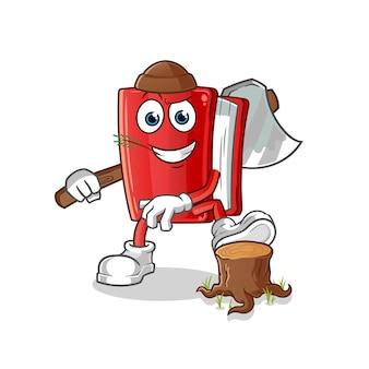 Rode boek carpenter cartoon mascotte