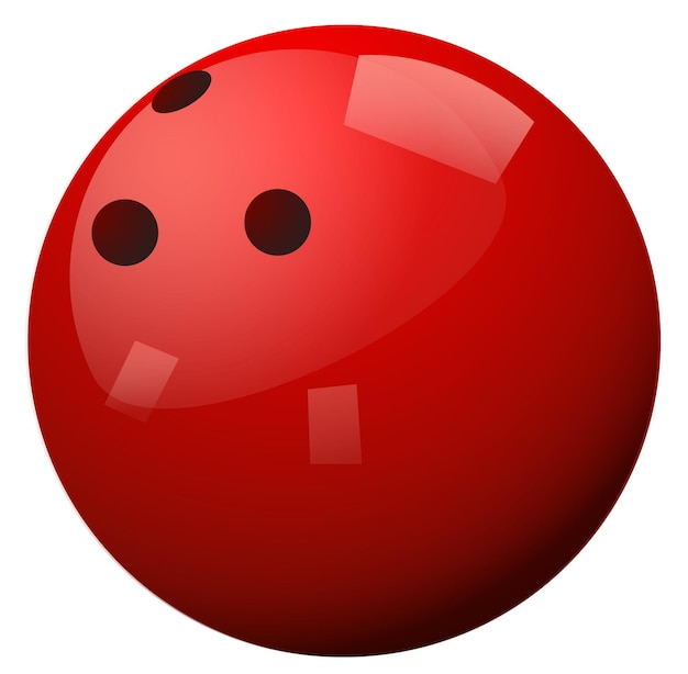 Rode bowlingbal op witte achtergrond