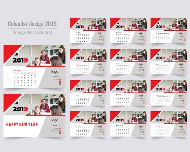 Rode bureaukalender 2019