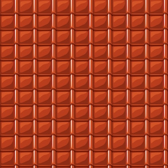 Rode cartoon dakbedekking dakpan naadloze textuur