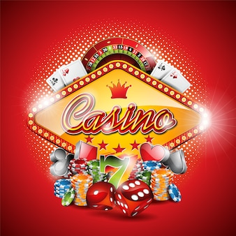 Rode casino achtergrond