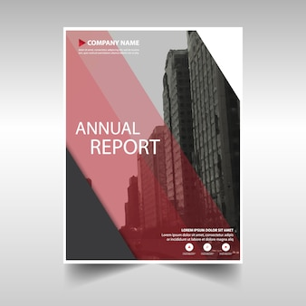 Rode creatieve jaarverslag cover van het boek template