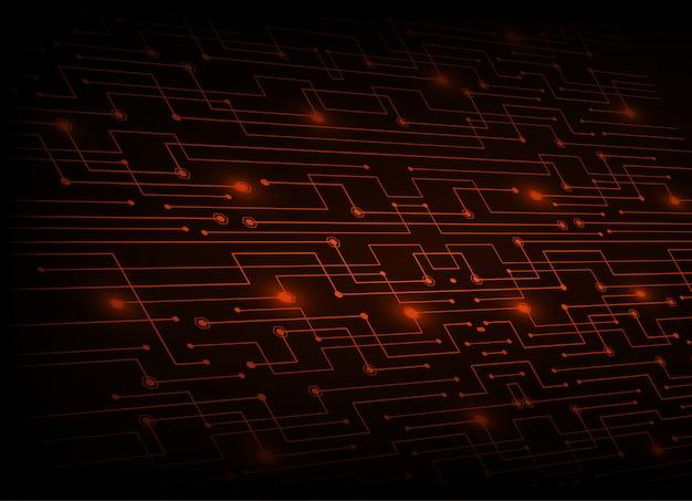 Rode cyber circuit toekomstige technologie concept achtergrond